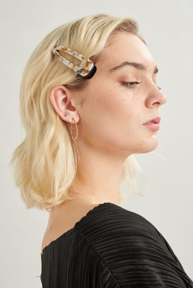 Haarclips gemustert