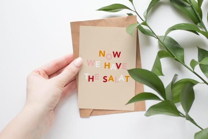 Postkarte salat