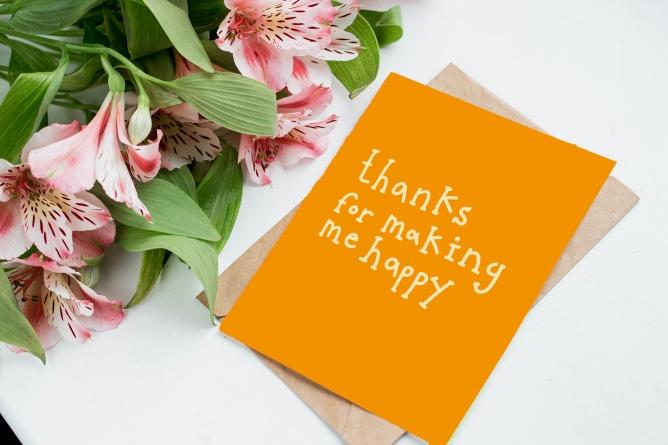 Postkarte thanks