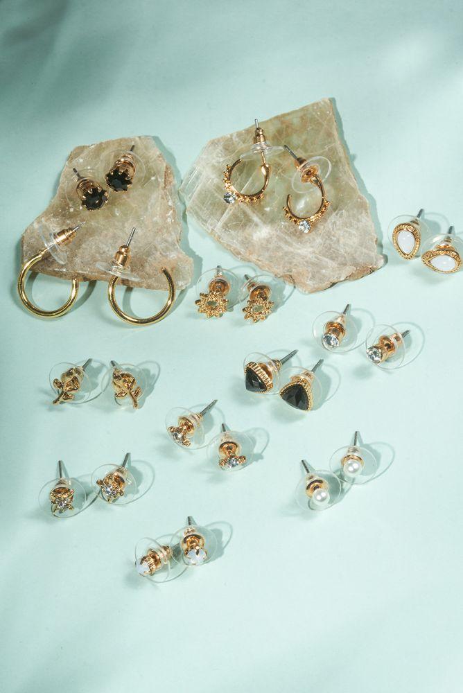Ohrstecker - goldenes Ohrring-Set