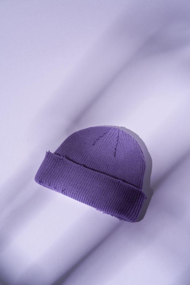Mütze gestrickt in Destroyed-Optik