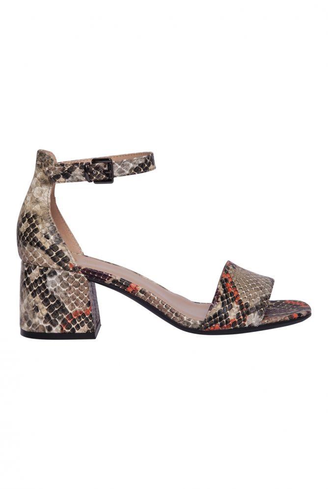 Sandalette Schlangenmuster