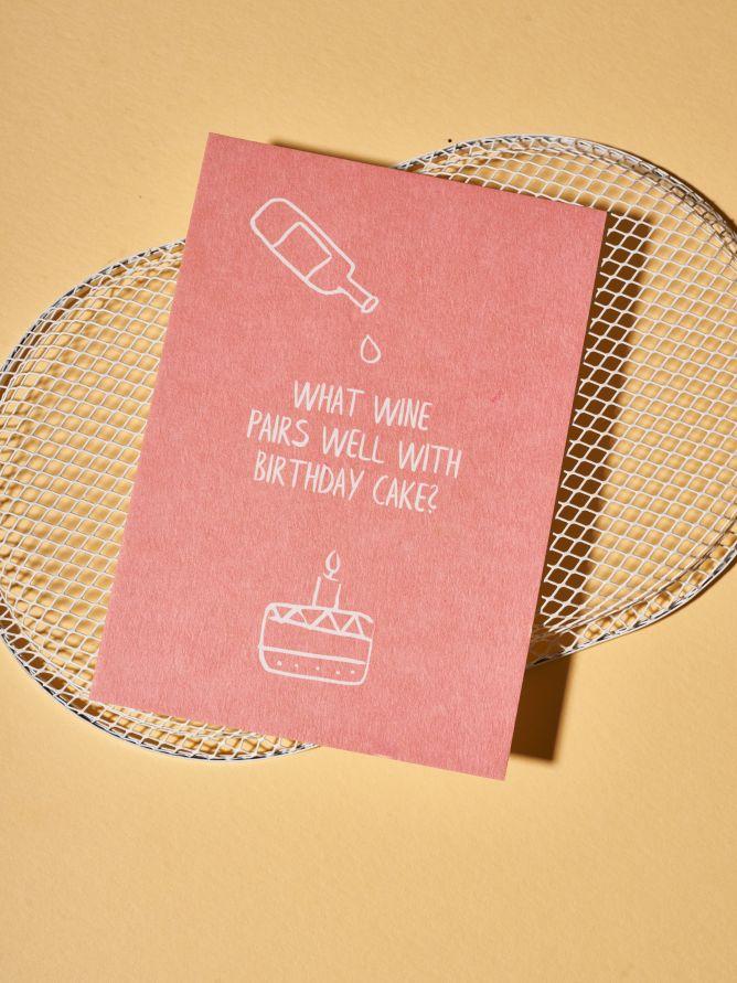 Postkarte Birthday Cake