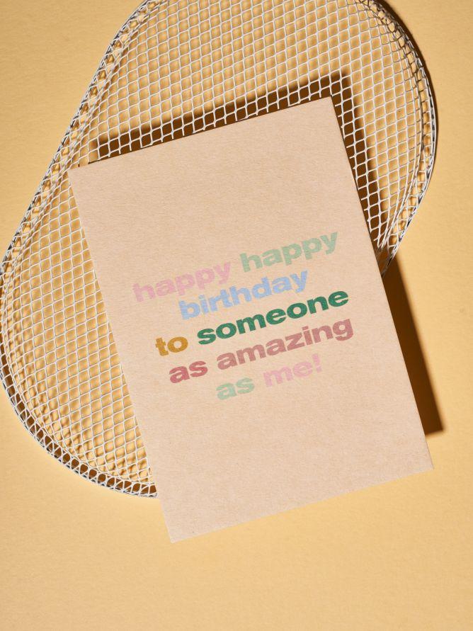 Postkarte Happy Happy Birthday