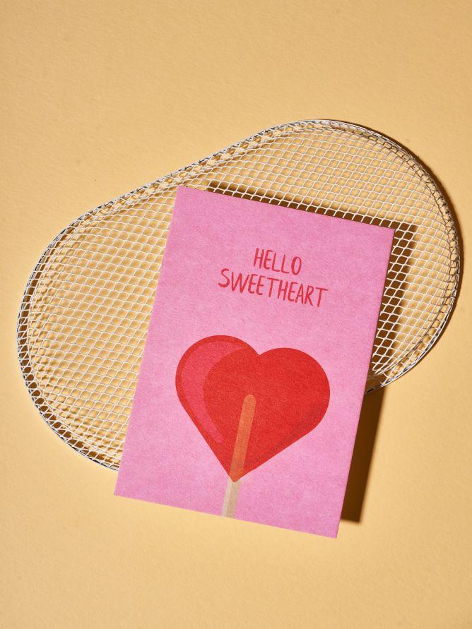 Postkarte Hello Sweetheart