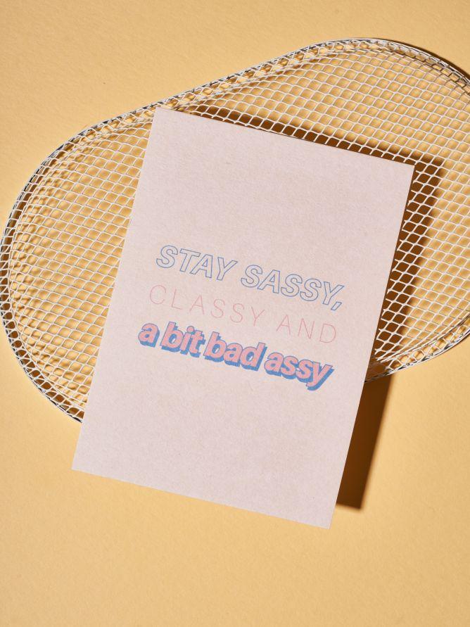 Postkarte Stay Sassy
