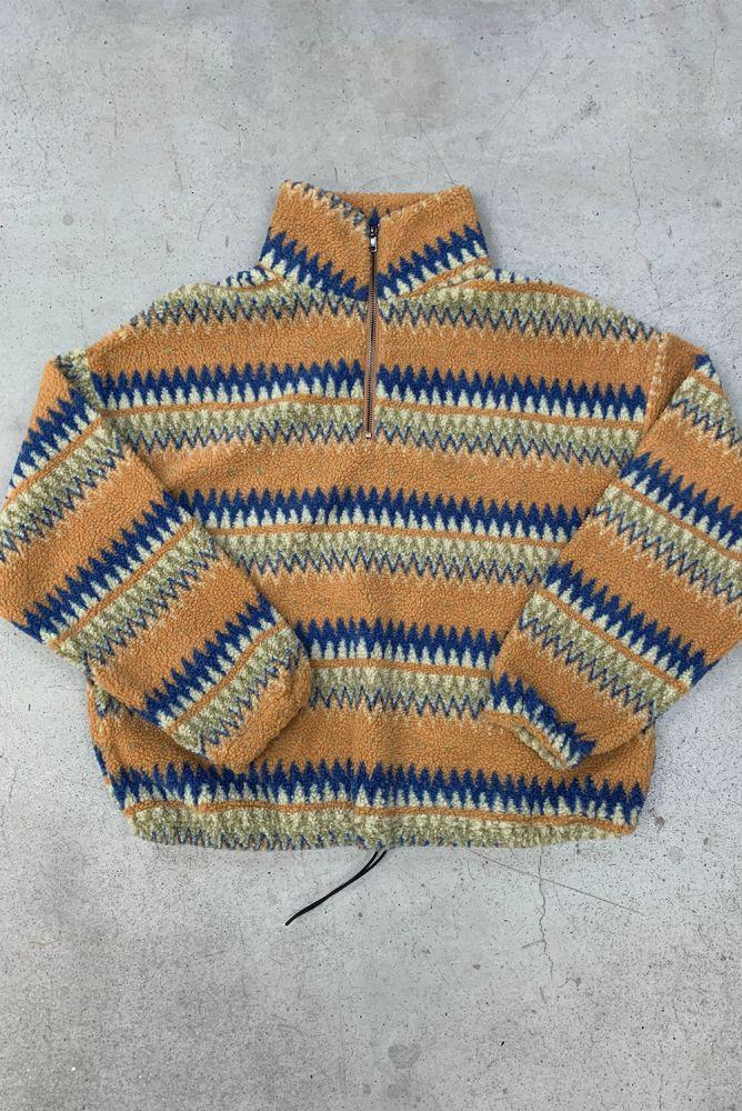 Sweatshirt - gemusterter Fleece Pullover