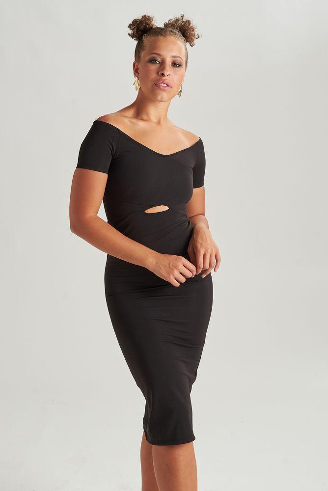 24COLOURS | Kleid - festliches, schwarzes Kleid mit ...